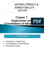 CHAP 7 Organisation and Consolidation of Information