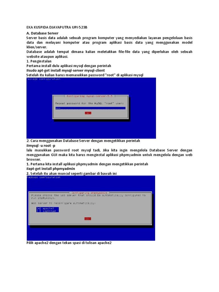 Jelaskan Dan Gambarkan Cara Kerja Dari Database Server ...