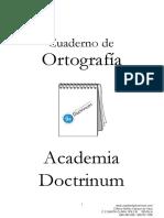 Cuaderno de Ortografia 1