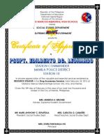 Certificate Drug Campaign 2