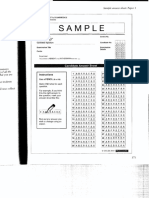 CambridgeFCE Sample of Answer Sheets