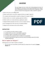 Calyxpod Manual
