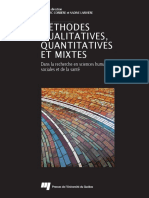 Methodes Qualitatives Quantitatives Et Mixtes