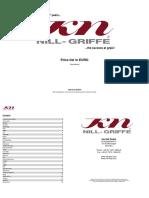 KN Nill-Griffe Preisliste 2016
