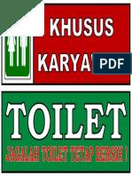 Stiker Jagalah Kebersihan - KM 2
