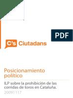 Prohibicion Corridas Toros en Cataluna