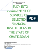A Study Into Management of Services of Selected Financial Institutions in the State of Cbhattisgarh [www.writekraft.com]