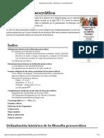 Filosofía Presocrática - Wikipedia, La Enciclopedia Libre
