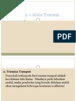 Jenis – Jenis Trauma & Penanganannya.pptx