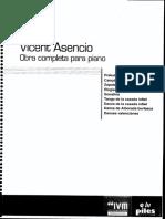ASENCIO, Vicente - Obra Completa Para Piano