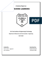 Seminar Report on Machine Learing