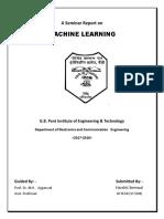 Seminar Report on Machine Learing