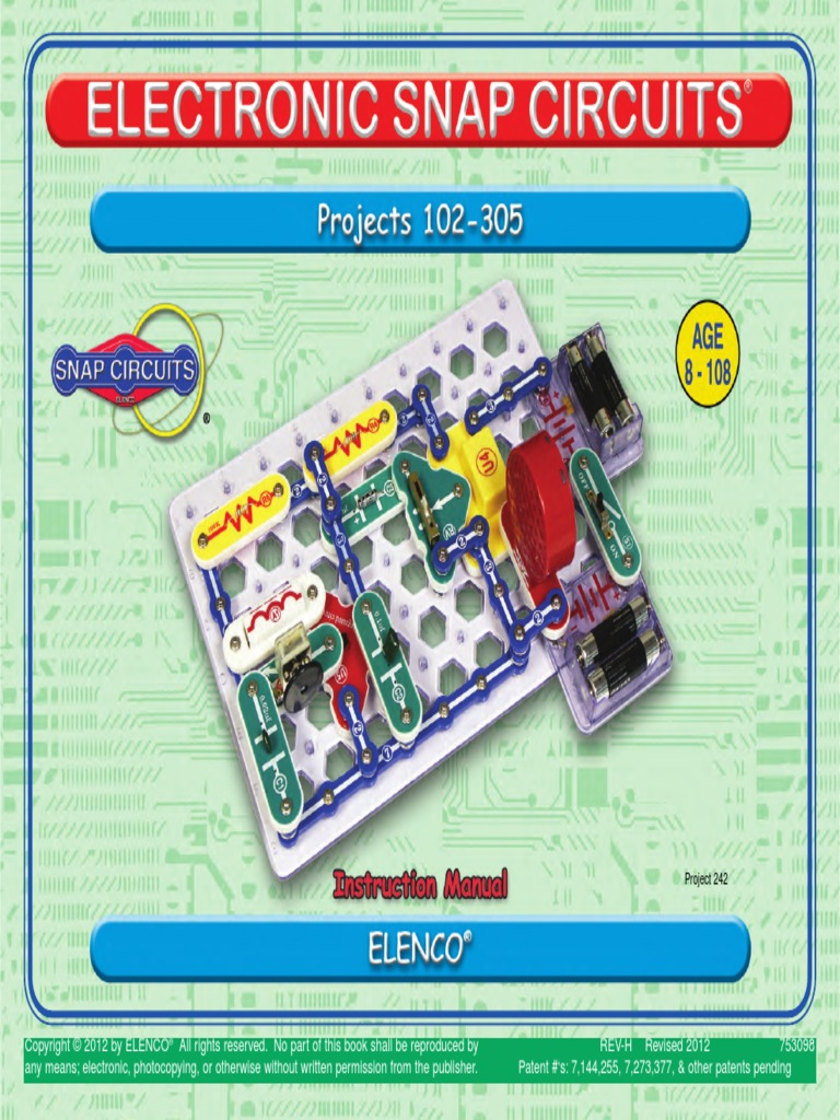 753098 2pdf Electronic Circuits Bipolar Junction Transistor Elenco Electronics Snap Mini Kit Basic Electricity Toys