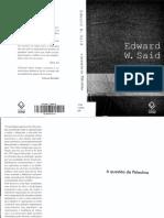 SAID, Edward W. - A Questão Da Palestina