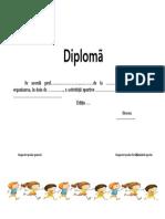 Model de Diploma Pentru Actv.sportive