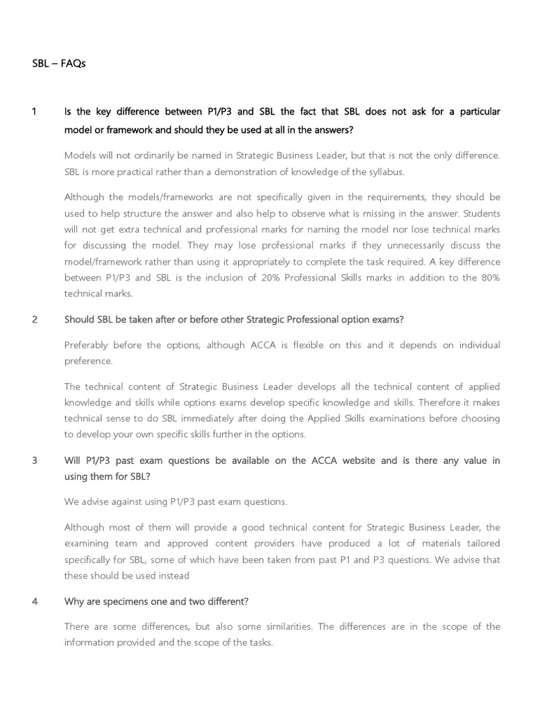 SBL - FAQs   Test (Assessment)   Evaluation
