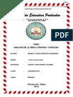 Analisis Obra Literaria Corazon