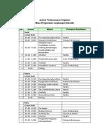 Jadwal Pelaksanaaan Kegiatan MPLS