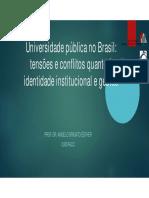 Tensões e Conflitos Universidade Brasileira Jan 2016