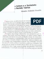 ROSALDO, Michelle. a Mulher, A Cultura e a Sociedade
