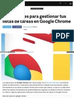 Listas de Tareas en Google