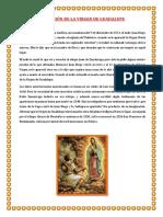 Aparicion de La Virgen de Guadalupe