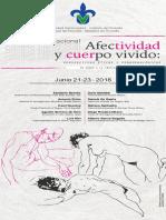 Congreso Internacional. Afectividad y cuerpo