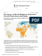 The fuure of west religions population