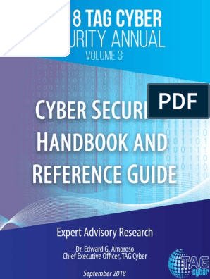 2018 TAG Cyber Security Annual Volume 3 Cyber Security Handbook and