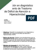 DIAGNOSTICO PARA TRATAMIENTO DE TRASTORNO DE DÉFICIT DE ATENCION E HIPERACTIVIDADA