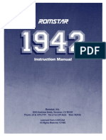 1942 by ROMSTAR - Capcom -- Instruction manual