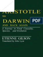 Gilson, Etienne -- From Aristotle to Darwin and Back Again. a Journey in Final Causality, Species, And Evolution