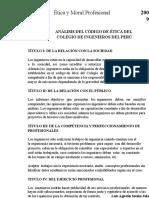 21356343 Analisis Del Codigo de Etica Del Cip