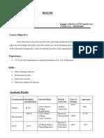 b Srinivasaro Resume