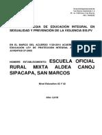 Plan de Estrategias de Educ. Integral y Sexualidad.