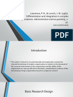 """Review of """"Differentiation and Integration in Complex Organizations"""""""