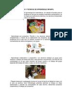 Metodos y Tecnicas de Aprendizaje Infantil