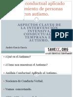1. Análisis Conductual Aplicado Al Tratamiento de Personas Con Autismo