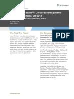The Forrester Wave - Cloud-Based Dynamic Case Management, Q1 2018