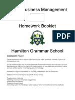 Higher Business Management Homework Booklet