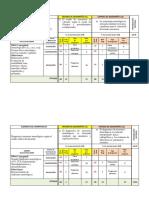 plantilla tabla especificaciones tarea