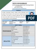 Yaseen Muhammad CV