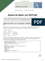 Ajuste de Datos Con MATLAB