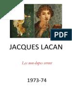 LACAN, Jacques - O Seminário - Livro 21 - Les Non Dupes Errent PORTUGUÊS