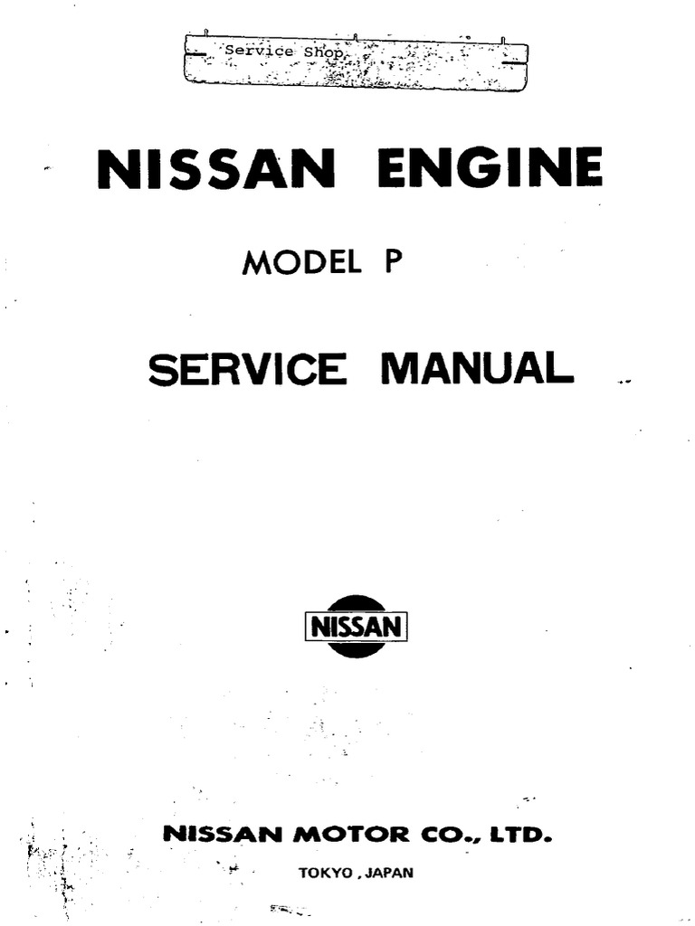 163929327 service manual nissan engine model p carburetor piston rh es scribd com 2006 Nissan Maxima Service Manual 2006 Nissan Maxima Service Manual