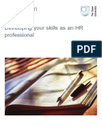 Developing Your Skills as an Hr Professional Printable