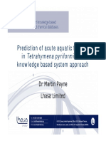 Prediction of Acute Aquatic Toxicity in Tetrahymena Pyriformis a Knowledge Based System Approach