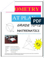 Geometry at Play Grade 10-12