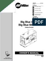 Miller Big Blue 400d 500 x Owners Manual Mig