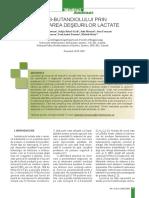 Obtinerea 2-3-butandiolului prin Biovalorificarea Deseurilor Lactate